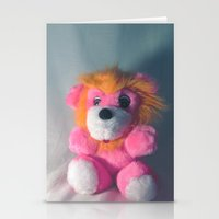Wee Neon Carnival Prize Lion Cub Stationery Cards