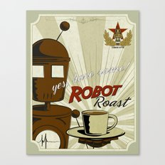 Robot Roast Canvas Print