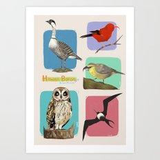 Hawaii Birds Collection Part 2 Art Print
