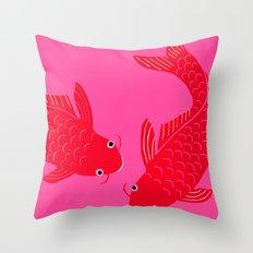 Happy Fish Throw Pillow