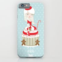 Merry Lady Christmas Cupcake iPhone 6 Slim Case