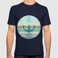 ANCHOR Mens Fitted Tee Navy SMALL