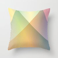 Gradient Strings Throw Pillow