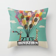 Giraffes Days Lets Go Ba… Throw Pillow