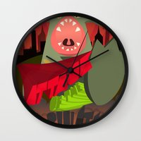 Attack of my Imagination Wall Clock