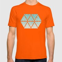 To the Beach Mens Fitted Tee Orange SMALL