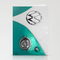 VW Split Screen In Teal Stationery Cards