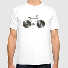Velophone Mens Fitted Tee White SMALL