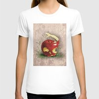TENTATION Womens Fitted Tee White SMALL