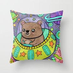 Space Bear Throw Pillow