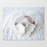White Butterfly - Dream Canvas Print