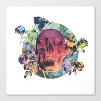 Low Poly Death Canvas Print