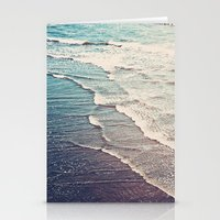 waves Stationery Cards featuring Ocean Waves Retro by Kurt Rahn