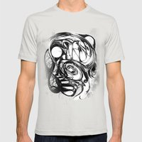 Galaxy Mens Fitted Tee Silver SMALL
