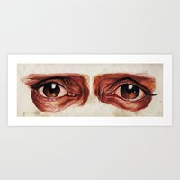 Suffered look Art Print