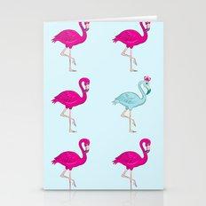 flamingo king Stationery Cards