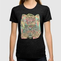the functioning parts Womens Fitted Tee Tri-Black SMALL