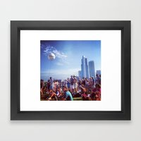 Music Festival Framed Art Print