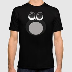 Gothic owl Mens Fitted Tee Black SMALL