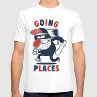 Going Places. Mens Fitted Tee White SMALL