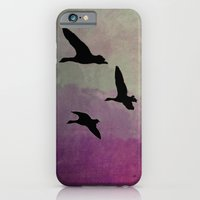 iPhone & iPod Case featuring Goose Flight - JUSTART © by JUSTART