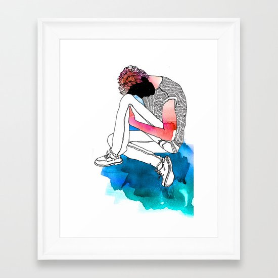 Young Liars 2 Framed Art Print