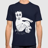 The White Demon Mens Fitted Tee Navy SMALL