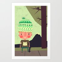 Kid Playing In The Stree… Art Print
