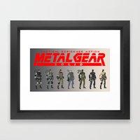 Pixel Snakes Framed Art Print