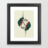 insects:love 01 Framed Art Print
