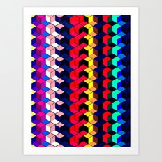 Spectrum Cubes / Pattern #7 Art Print