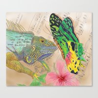 Beauty and the Butterfly Canvas Print