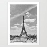 Paris: Eiffel Tower B&W Art Print