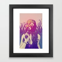 Masked & Dangerous Framed Art Print