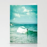 surf Stationery Cards featuring Surf by Sébastien BOUVIER