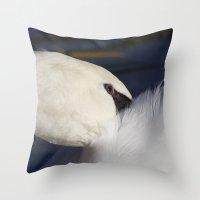 Swan Shyness Throw Pillow