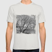 Illusion of Winter Mens Fitted Tee Silver SMALL