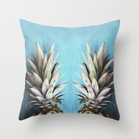 How About Those Pineapples Throw Pillow