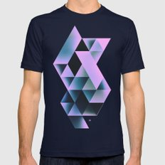 knyte bryte Mens Fitted Tee Navy SMALL