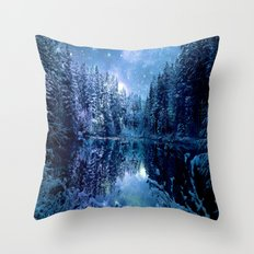 Magical Wintry Forest Throw Pillow