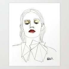 Red Lipstick Art Print