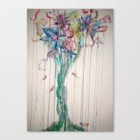 Bleeding Bouquet  Canvas Print