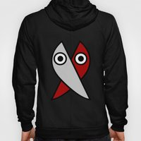 Red And Gray Fish Hoody