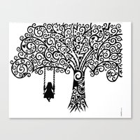 In Silence Canvas Print