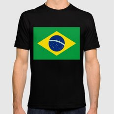 Brazilian National Flag … Mens Fitted Tee Black SMALL