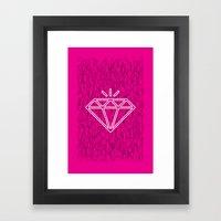 diamond magenta Framed Art Print