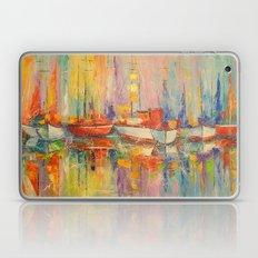 Boats in the Harbor  Laptop & iPad Skin