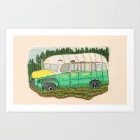 Into The Wild Magic Bus Art Print