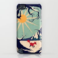 iPhone Cases featuring Fox roaming around II by Yetiland