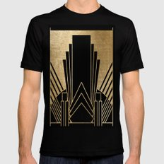 Art deco design Mens Fitted Tee Black SMALL